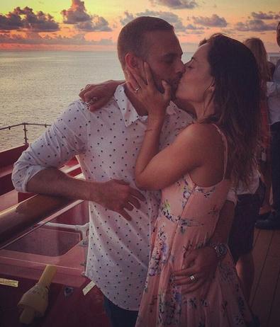 Luis Ernesto Franco y Marimar Vega se comprometieron