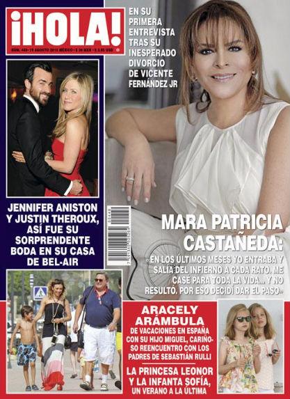 Mara Patricia Castañeda en revista Hola