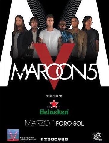 Maroon 5 en Foro Sol 1 de marzo de 2016