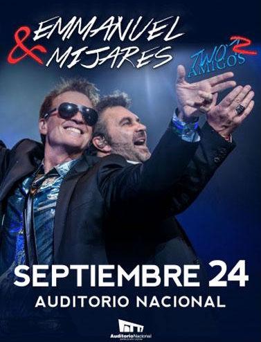 Mijares y Emmanuel en Auditorio Nacional 24 de septiembre