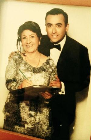 Adal Ramones y su mamá