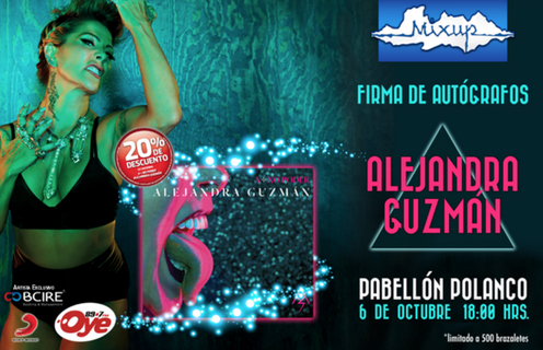 Alejandra Guzmán Firma de autógrafos