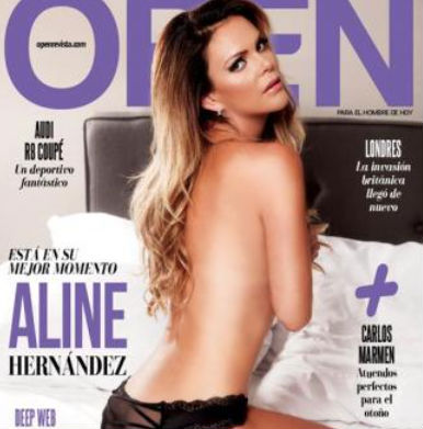 Aline Hernández en Revista Open