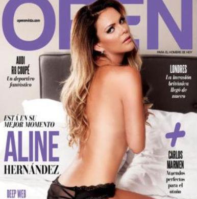 Aline Hernández en portada de Open