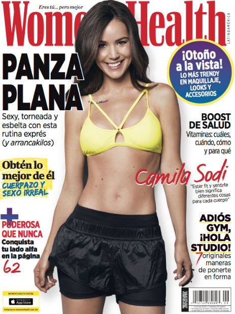 Camila Sodi en revista Women's Health