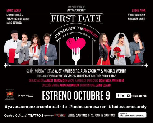 Mark Tacher y Gloria Aura en First Date