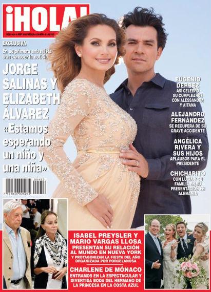 Jorge Salinas y Elizabeth Álvarez esperan un niño y una niña