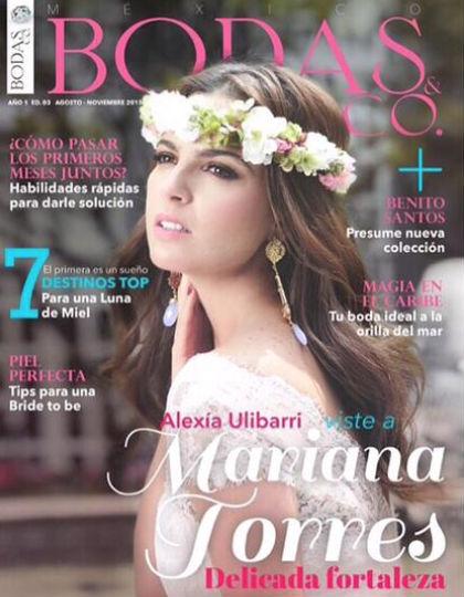 Mariana Torres en Revista Bodas & Co