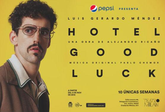Luis Gerardo Méndez presentará el monólogo Hotel Good Luck