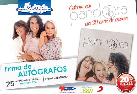 Pandora en Firma de Autográfos