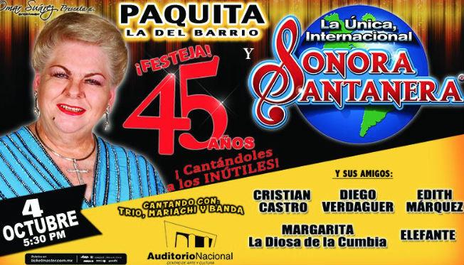Paquita la del Barrio en Auditorio Nacional