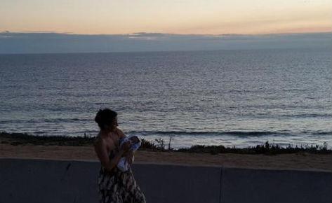 Silvia Navarro present a su hijo