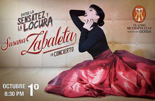 Susana Zabaleta en Teatro Metropolitan