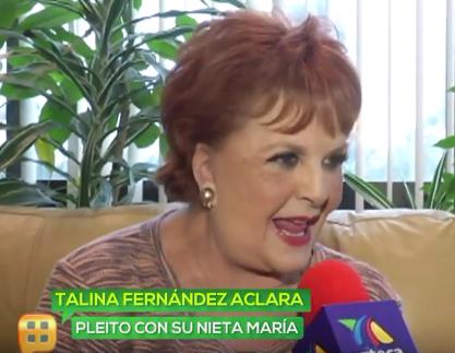 Talina Fernández niega demanda de María Levy