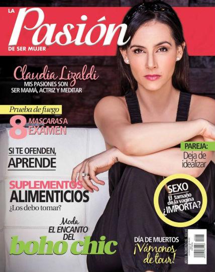 Claudia Lizaldi en Revista Pasión