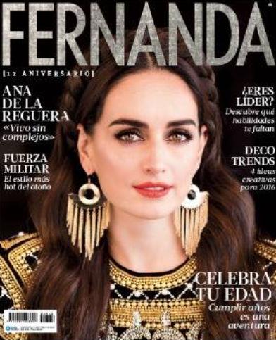 Ana de la Reguera en Revista Fernanda