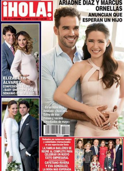 Ariadne Díaz y Marcus Ornellas esperan bebé