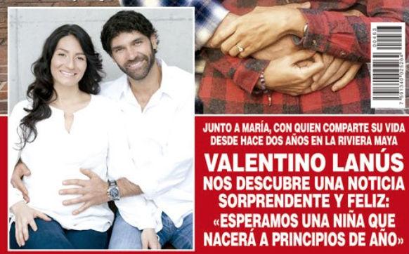 Valentino Lanus será papá
