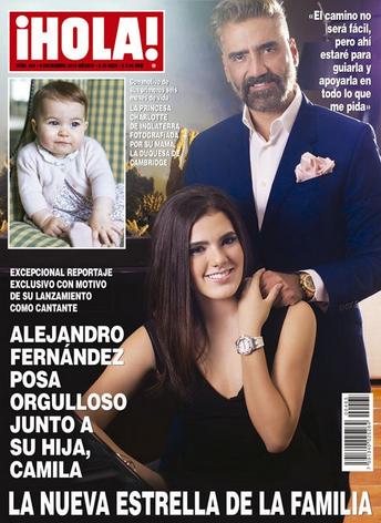 Alejandro Fernández y su hija Camila en Revista Hola