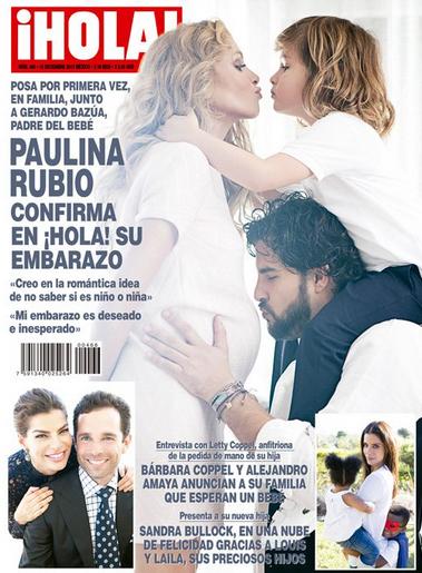 Paulina Rubio confirma su embarazo