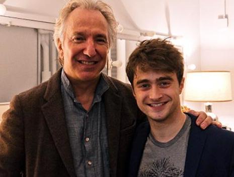 Alan Rickman y Daniel Radcliffe