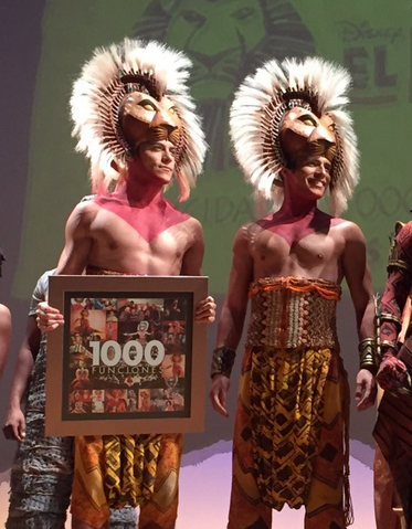 Carlos Rivera celebran 1000 presentaciones de El Rey León