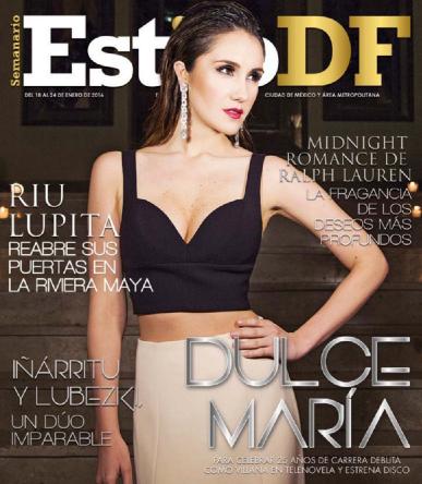 Dulce María en Revista Estilo DF
