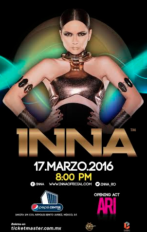 INNA en Pepsi Center 17 de marzo
