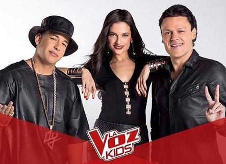 Pedro Fernández, Natalia Jiménez y Daddy Yanke en la Cuarta temporada de La Voz Kids