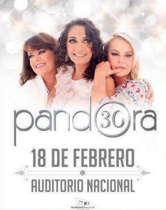 Pandora en Auditorio Nacional 18 de febrero