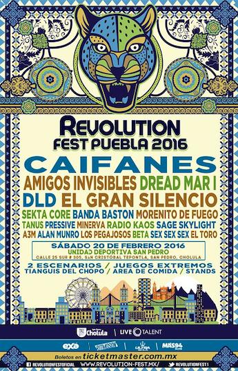 Revolution Fest en Puebla 2016 el 20 de febrero