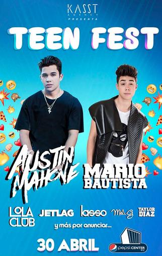 Teen Fest con Austin Mahone y Mario Bautista 30 de abril
