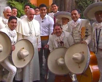 Carlos Rivera con el Papa