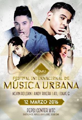 Festival Internacional de Música Urbana 12 de marzo en Pepsi Center