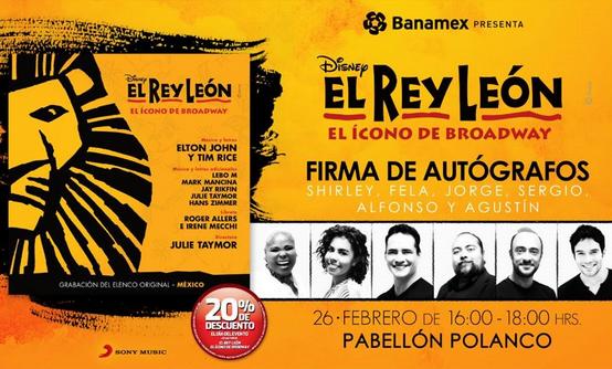 Firma de autógrafos de El Rey León
