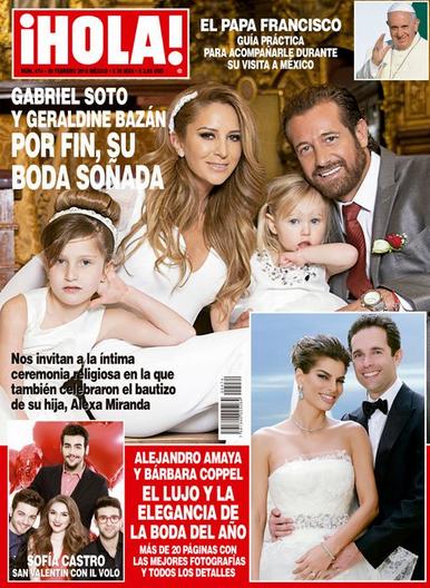 Boda de Gabriel Soto en Revista Hola