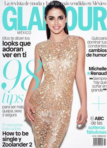 Michelle Ranud en Revista Glamour