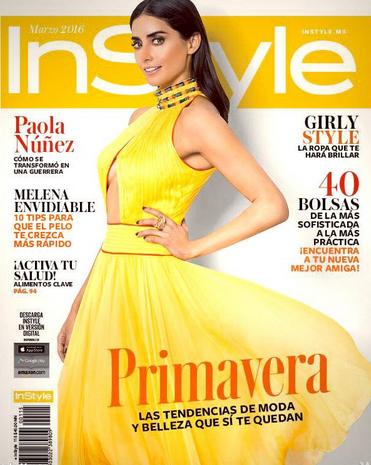 Paola Nuñez en Revista InStyle