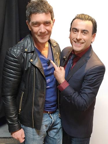 Antonio Banderas y Adal Ramones
