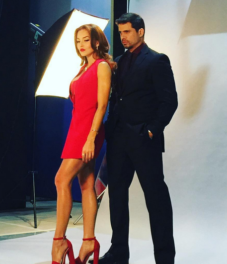 Angelique Boyer y Pedro Moreno