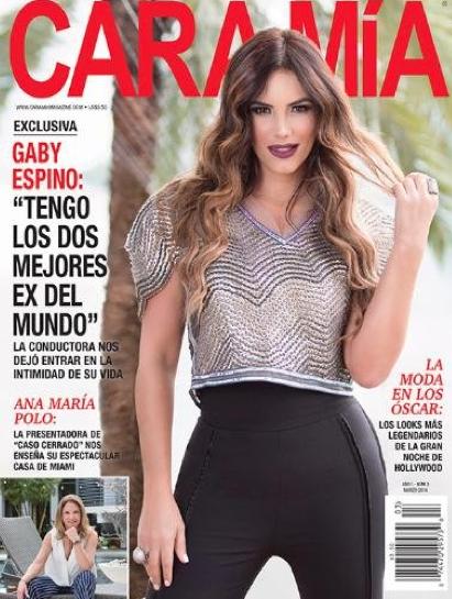 Gaby Espino en Revista Cara Mía