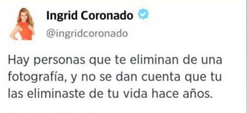 Mensaje de Ingrid Coronado a Fernando del Solar