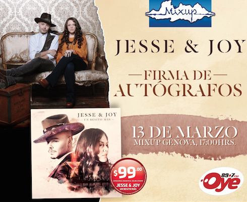 Jesse & Joy en firma de autógrafos