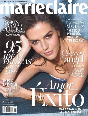 Revista Marie Claire con Claudia Álvarez
