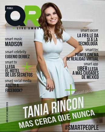 Tania Rincón en Revistas IT Magazine y Publi QR