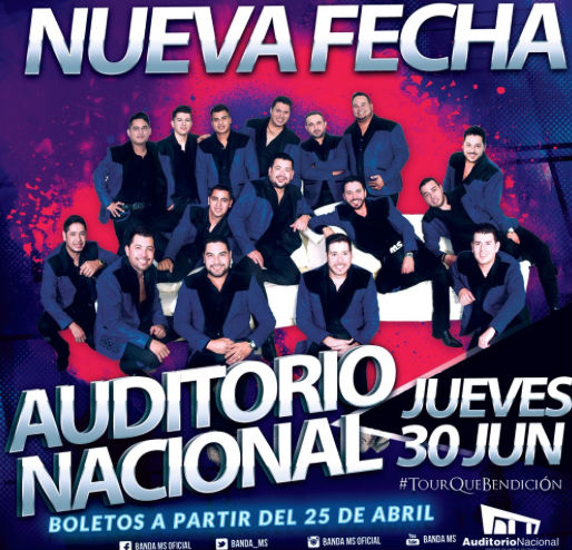 Banda MS en Auditorio Nacional