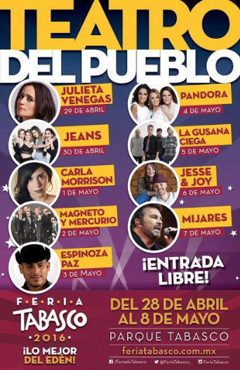 Cartel de la Feria de Tabasco 2016