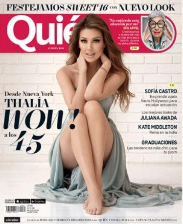 Thalía en Revista Quién