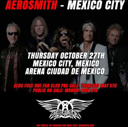 Aerosmith en Arena Ciudad de México 27 de octubre