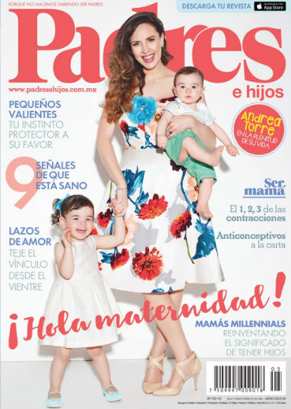 Andrea Torre en Revista Padres e hijos